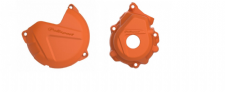 New KTM SXF 250 350 16 17 18 Clutch Ignition Cover Protector Combo Orange